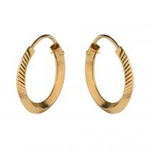 Modern diamond and yellow gold earrings