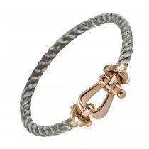 Modern flexible yellow gold bracelet