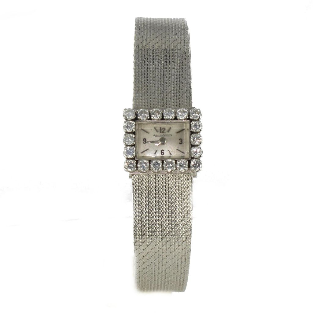 Très Montre Jaeger Le Coultre femme or blanc diamants vintage TM02