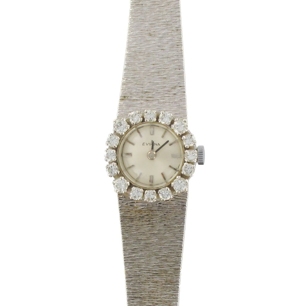 Très Montre Vintage Or blanc Diamants Femme - Montre ancienne diamant TM02