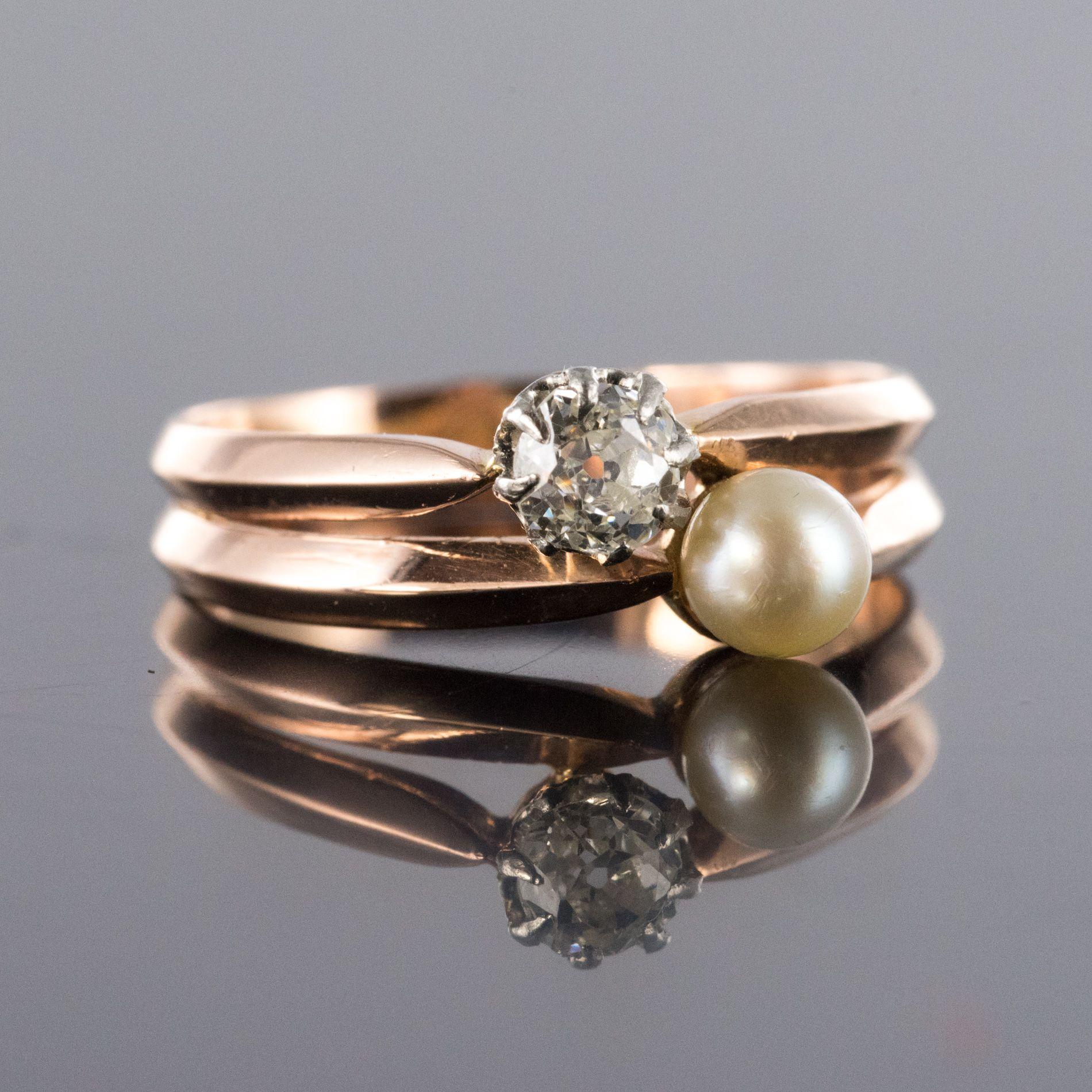 Parure ancienne perles fines et diamants