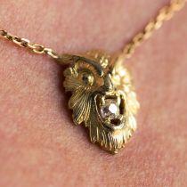 Pendentif ancien hibou et son diamant