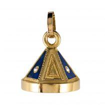 Pendentif cachet lapis lazuli perles fines