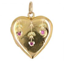 Pendentif cœur ancien rubis