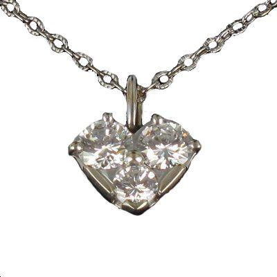 Pendentif Diamants Coeur