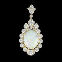 Pendentif Diamants et Opale G 3
