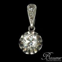 Pendentif Diamants et or blanc