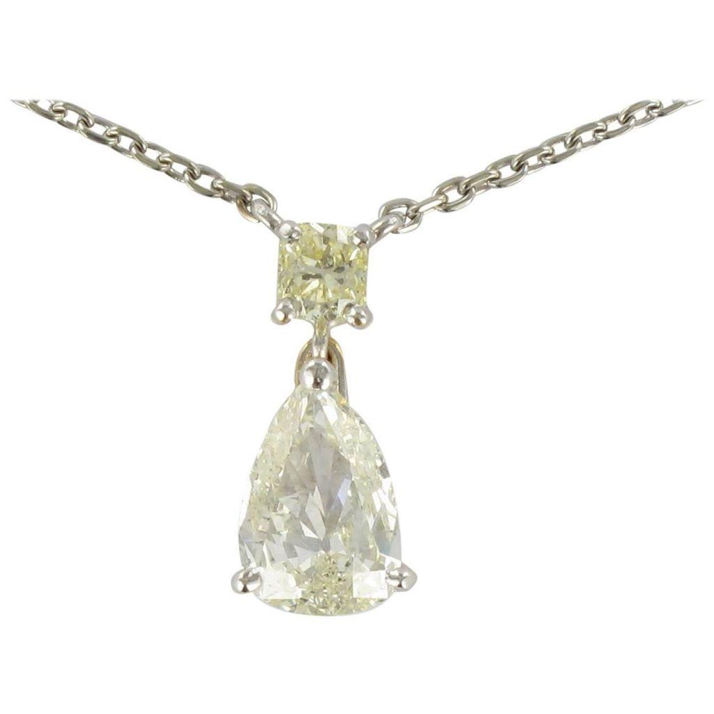 Pendentif Diamants et sa Chaîne Diamants