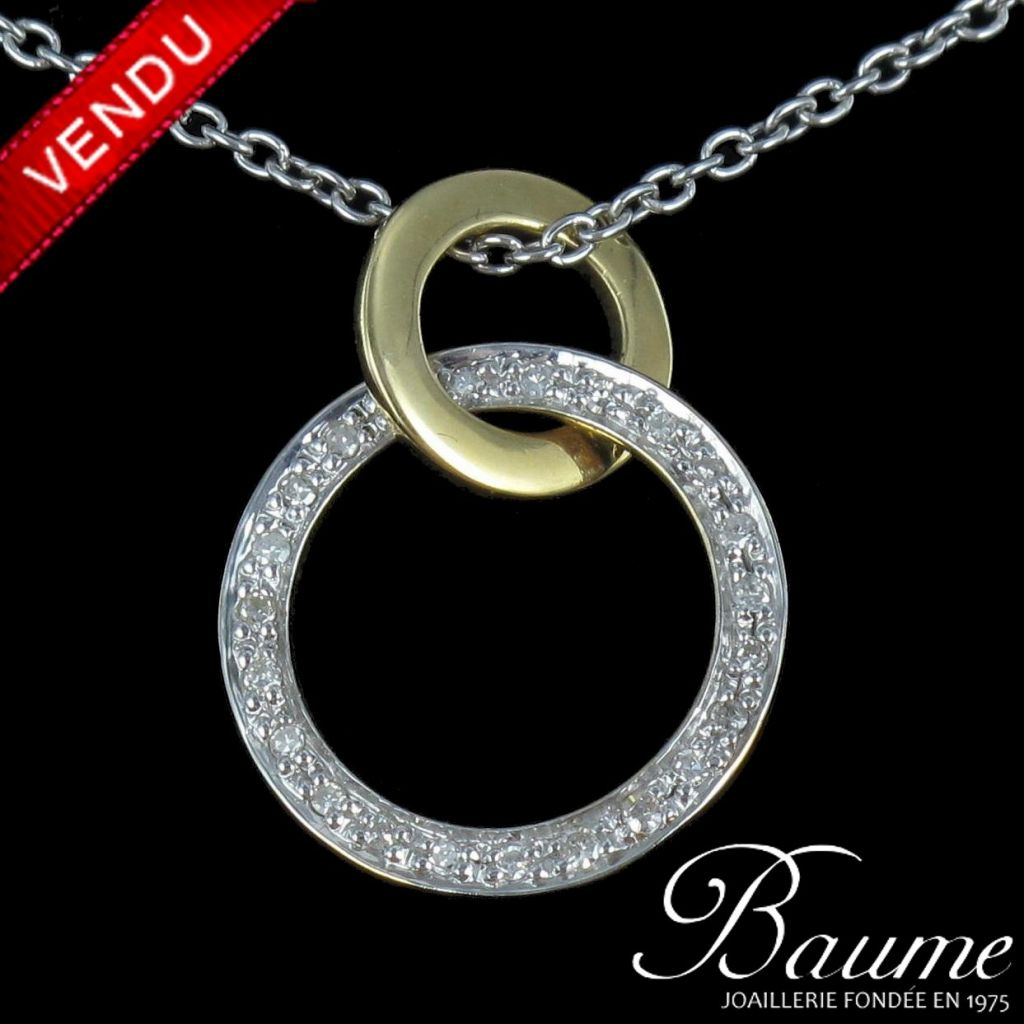 Pendentif Diamants et sa chaîne