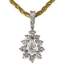 Pendentif diamants et sa chaine