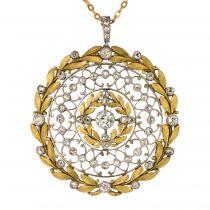 Pendentif diamants rosace