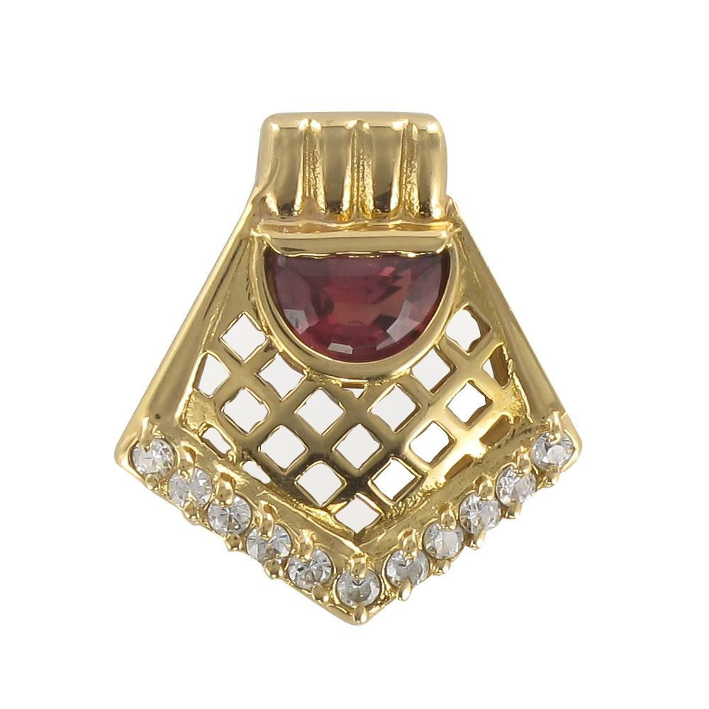 Pendentif grenat rhodolite et diamants