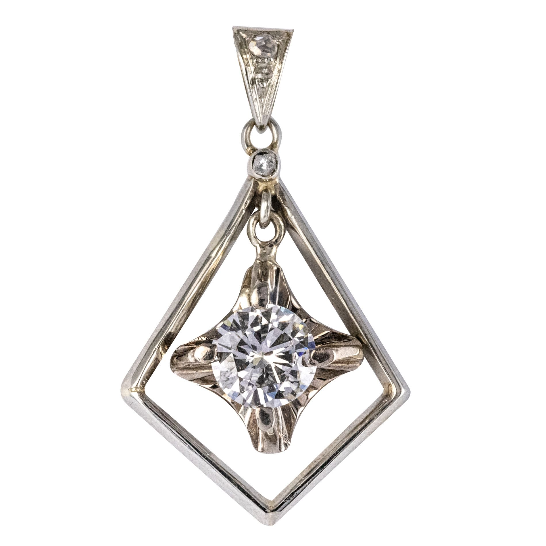 Pendentif Losange Diamants