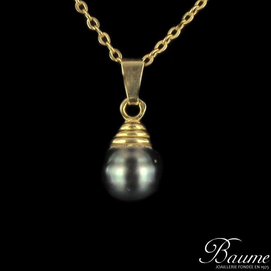 Pendentif perle de tahiti 9'9.5 mm