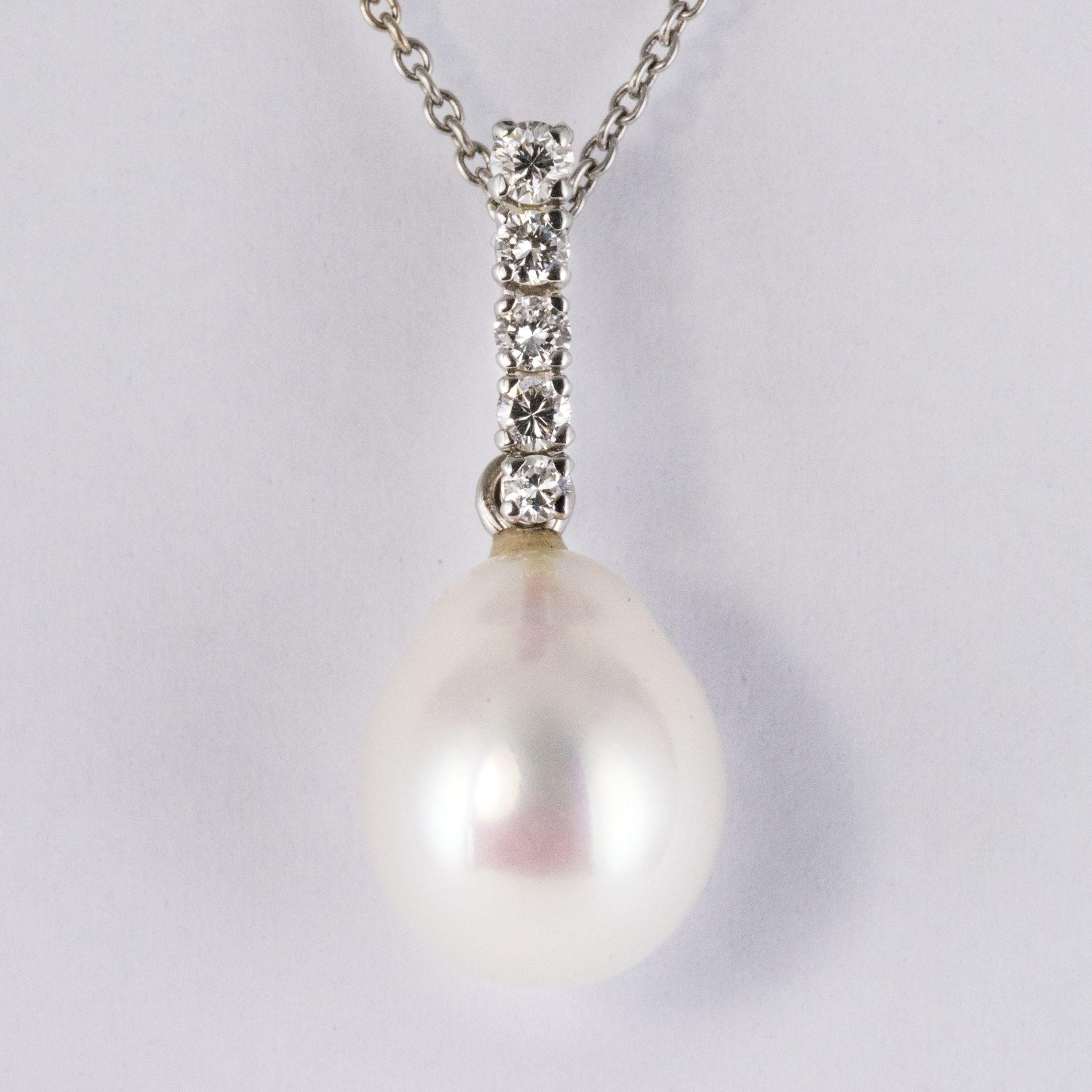 Pendentif Perles et Diamants