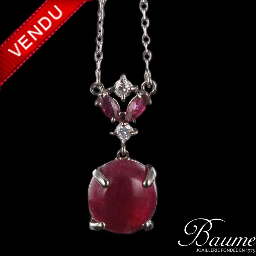Pendentif rubis et diamants