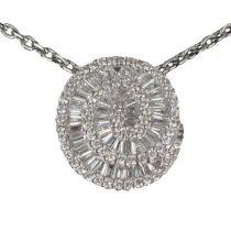 Pendentif Spirale de diamants
