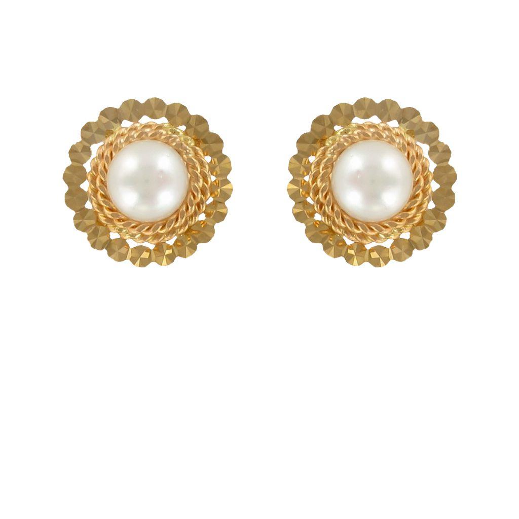 Puces d\'oreilles anciennes perle