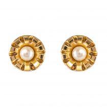 Puces d\'oreilles perles et or