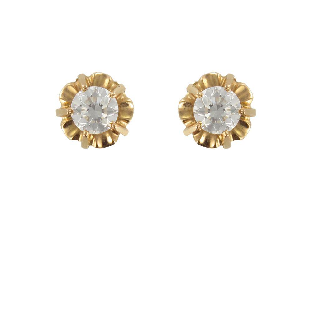 Puces or jaune diamants