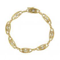Rare Antique bracelet - Antique Diamonds Gold 18K Bracelet - Fine antique jewelry