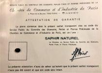 Saphir bleu naturel