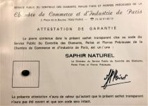 Saphir bleu naturel