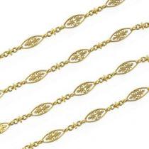 Sautoir ancien motifs en or