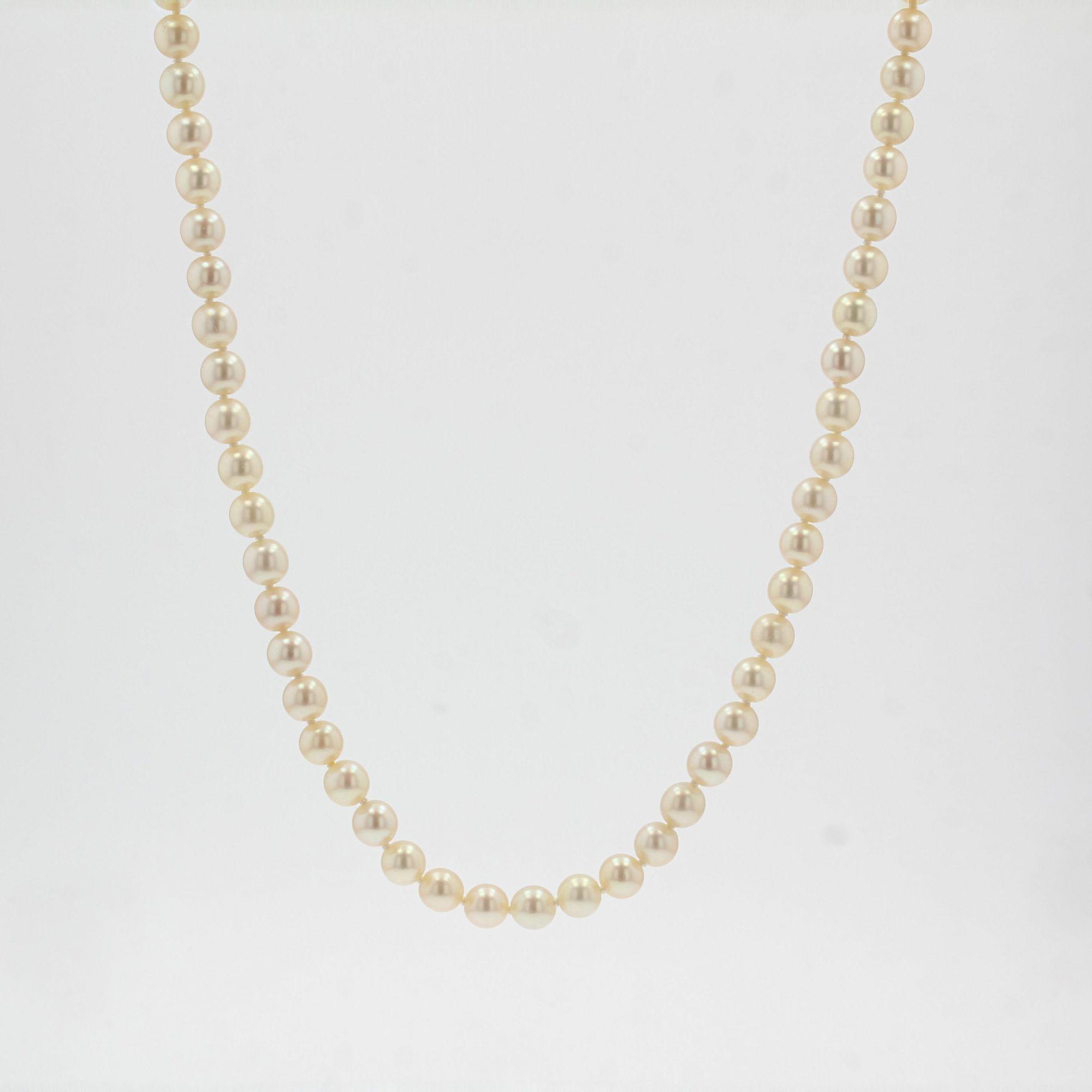 Sautoir de perles de culture Akoya