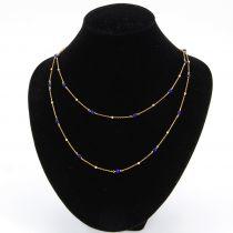Sautoir en or et perles de lapis lazuli
