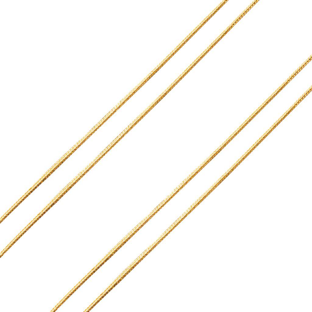 Sautoir or jaune ancien maille colonne