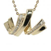 Serre- Collier or jaune et diamants