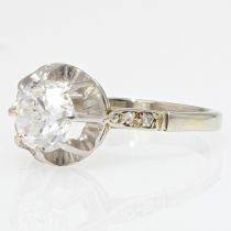 Solitaire ancien diamant