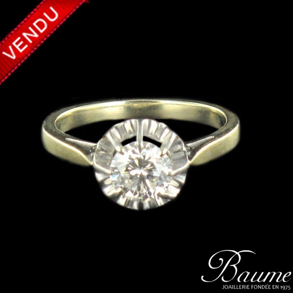 Solitaire diamant 0,90 carat