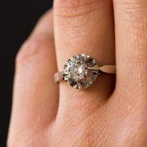 Solitaire diamant 0.55 carat
