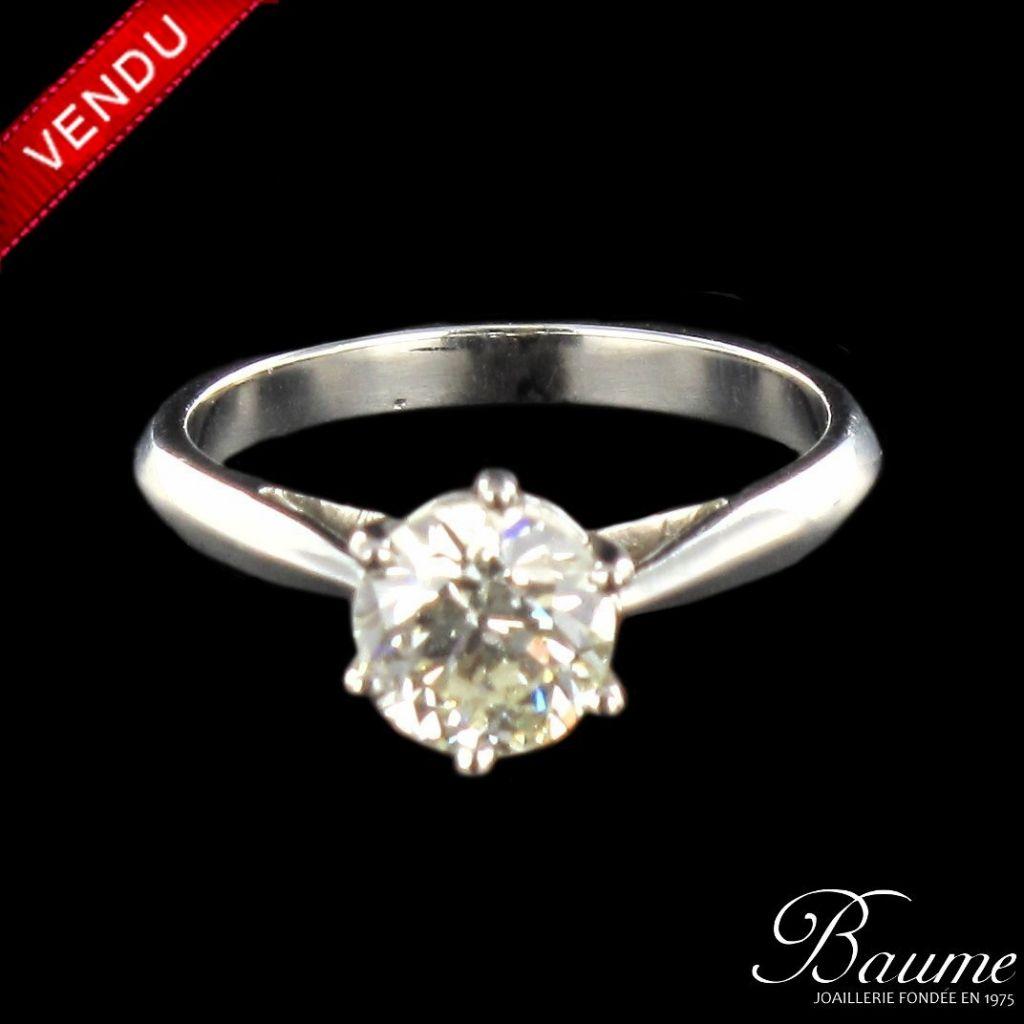Solitaire diamant 1.22 carats