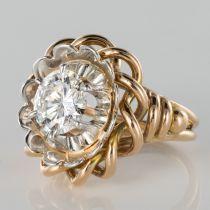 Solitaire diamant 2,06 carats vintage