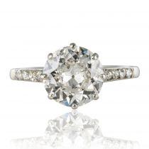 Solitaire diamant ancien 1,35 carat