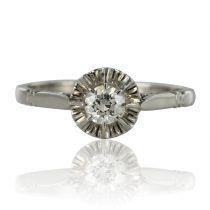 Solitaire diamant rétro