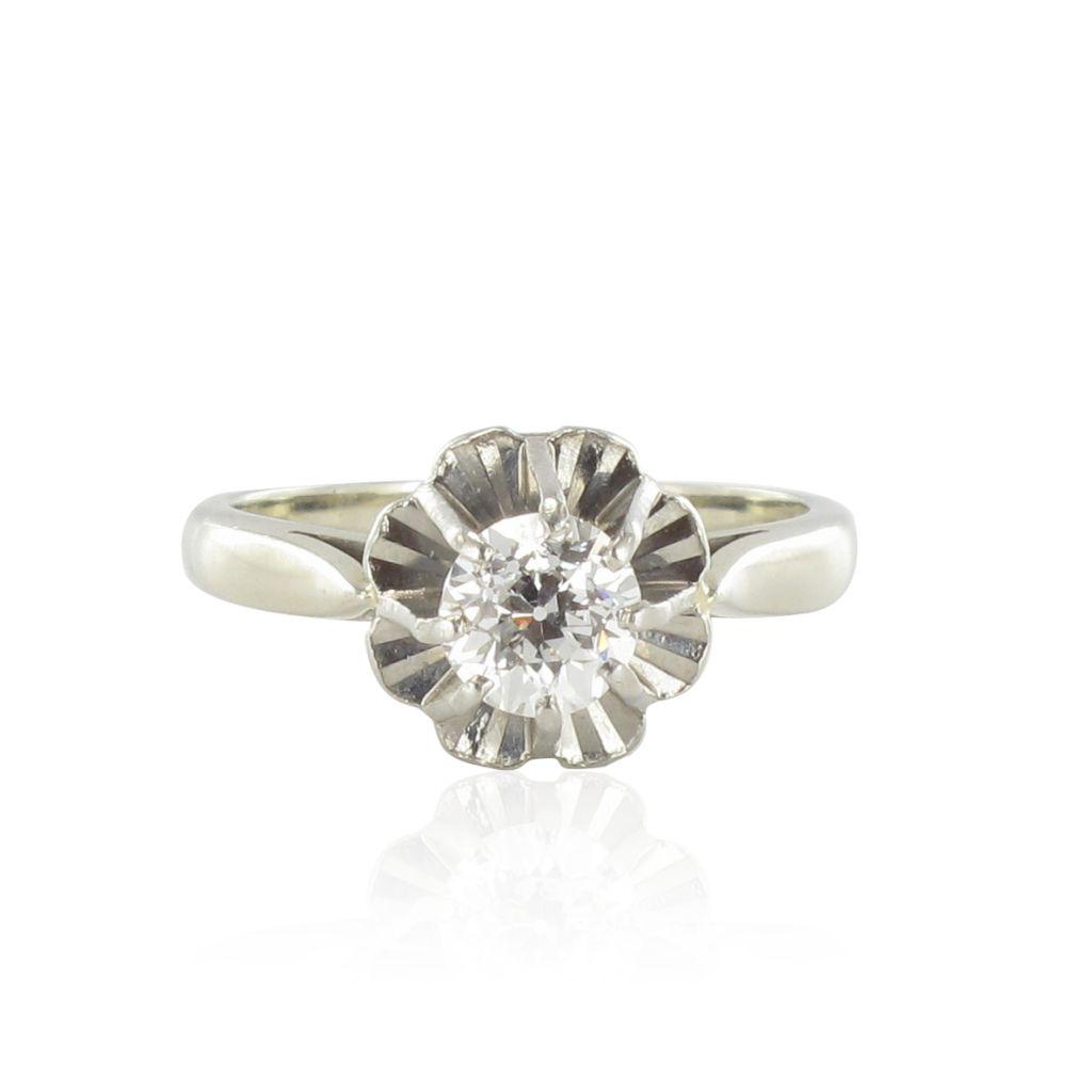Solitaire diamant vintage 0,60 carat
