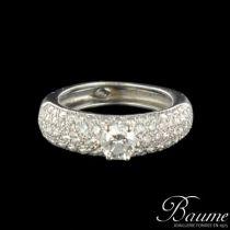 Solitaire femme diamants