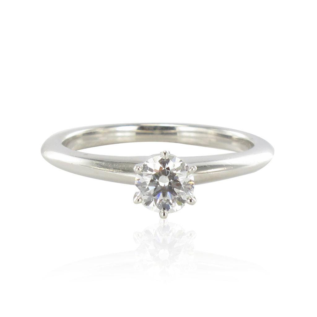 Solitaire Tiffany diamant platine
