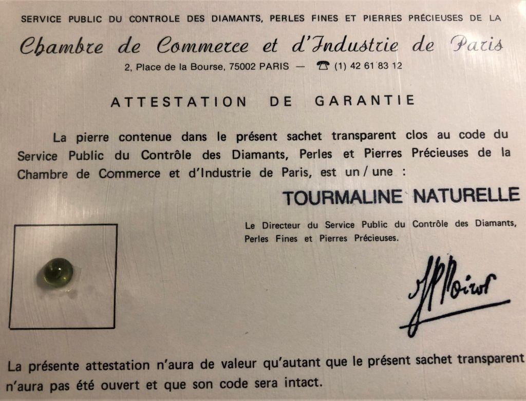 Tourmaline verte naturelle