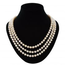 Triple row pearl antique necklace